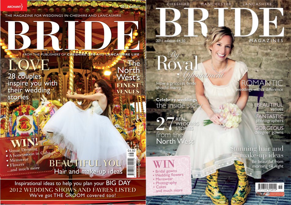 My photo is on the cover of Bride Magazine Lancashire Wedding