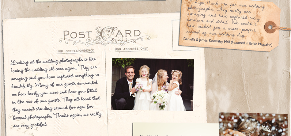 Post card to Lake district and North West wedding photographer Lisa Aldersley