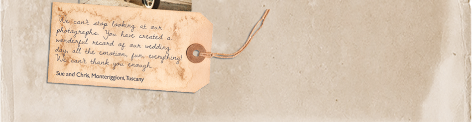 Love Letter written on a gift tag to Lake District Wedding Photographer Lisa Aldersley