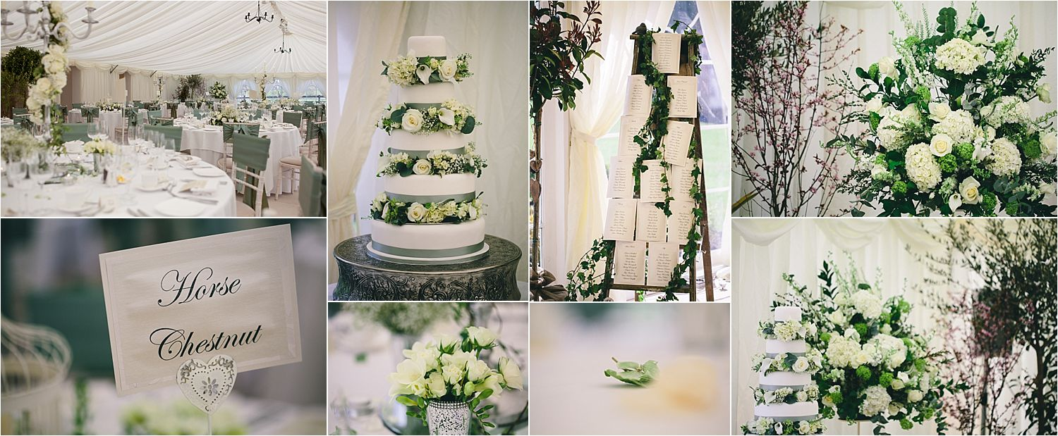 Floral and decorative details at Hilltop Country House hotel wedding in Cheshire