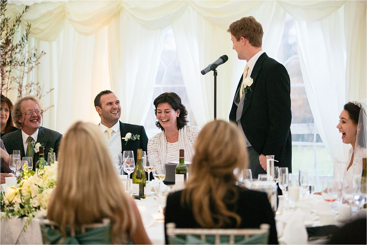 Bridegroom's speech at Hilltop Country House wedding, Cheshire