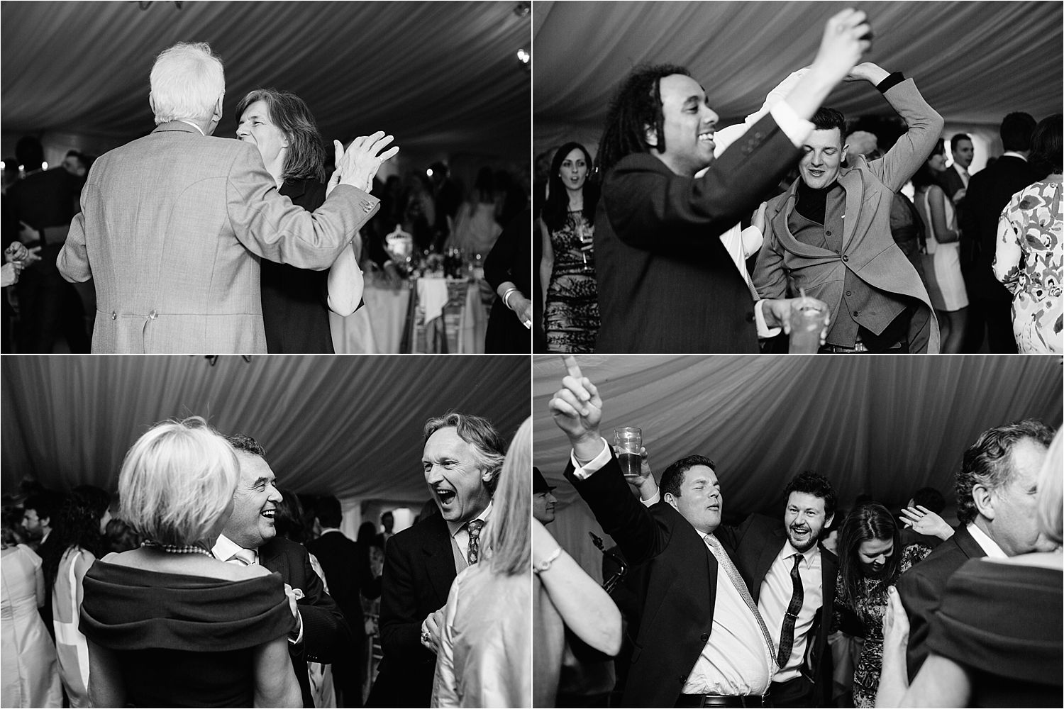 Guests dancing the night away at Hilltop House wedding, Cheshire