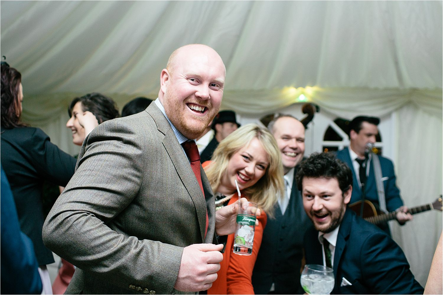 Guests enjoy the dancing at Cheshire wedding in Prestbury