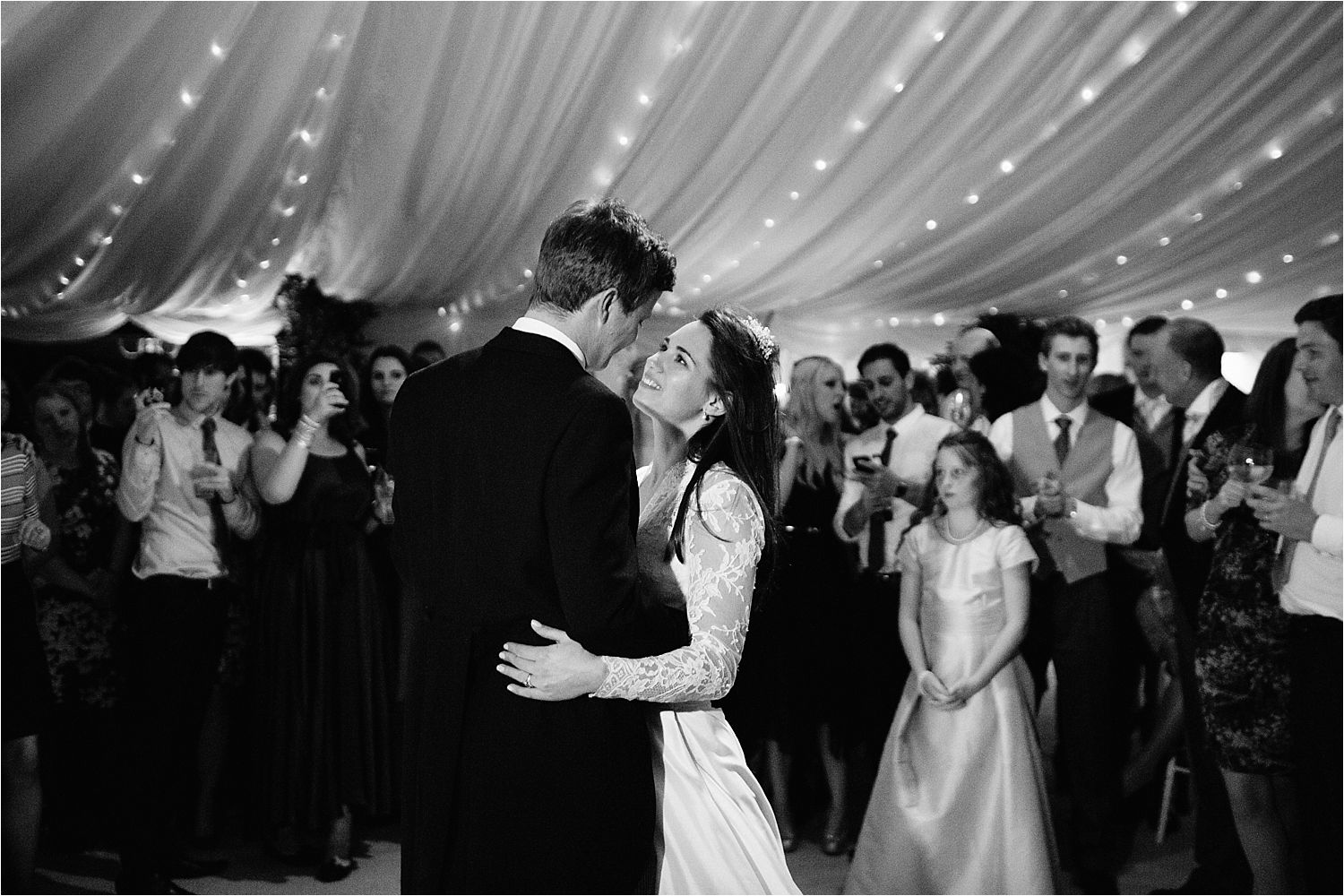 Bride and groom first dance at Cheshire wedding, Hilltop Country House