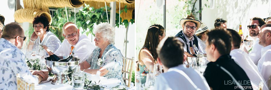 Fazenda Nova wedding guests having lunch