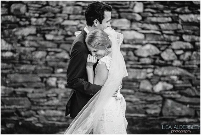 portrait of the bride and groom in Hawkshead