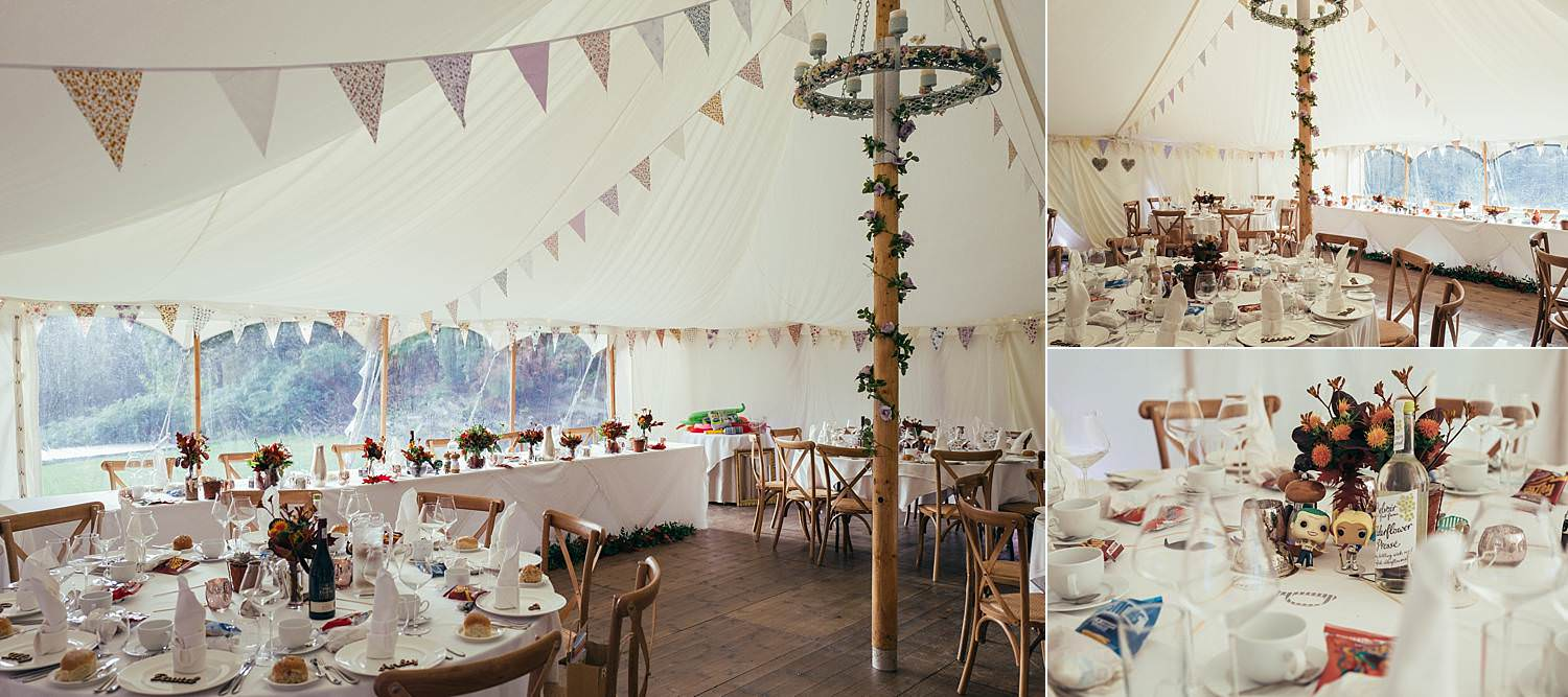 decorated marquee at Gilpin Lake House