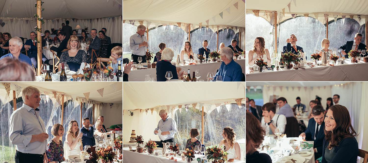 speeches in a marquee at Gilpin