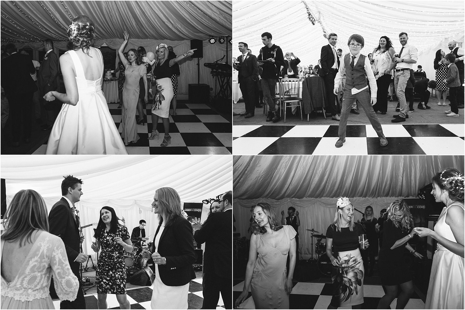 Guests enjoying the dancing at Trough of Bowland wedding reception