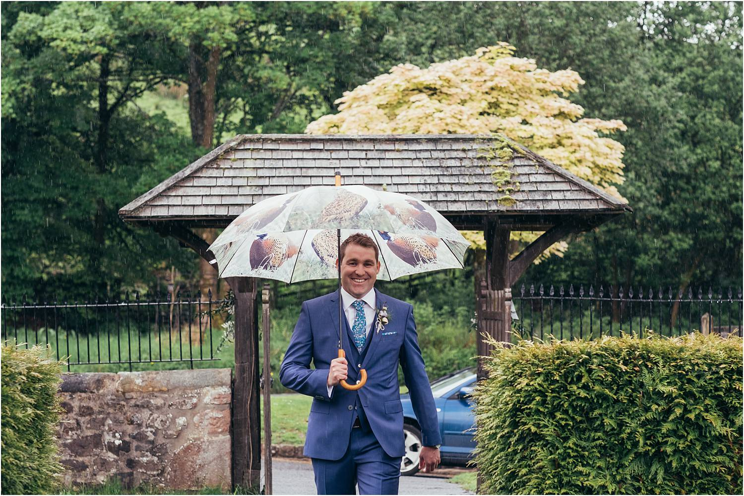 Bridegroom arriving at Lancashire church