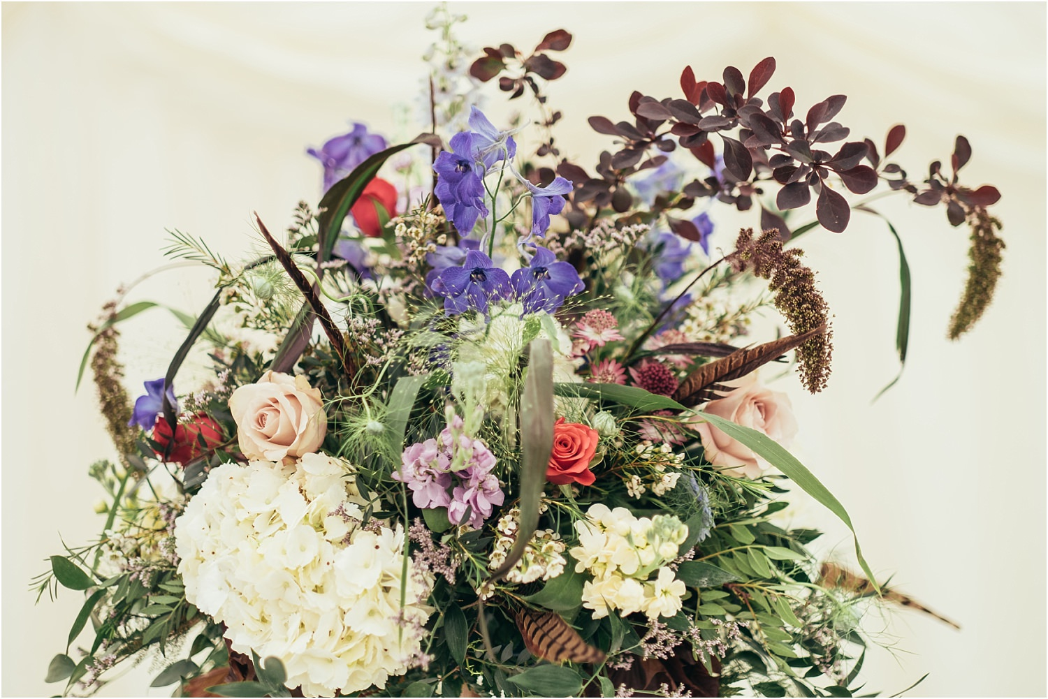 Beautiful table decoration by The Flower Shop of Clitheroe, Lancashire