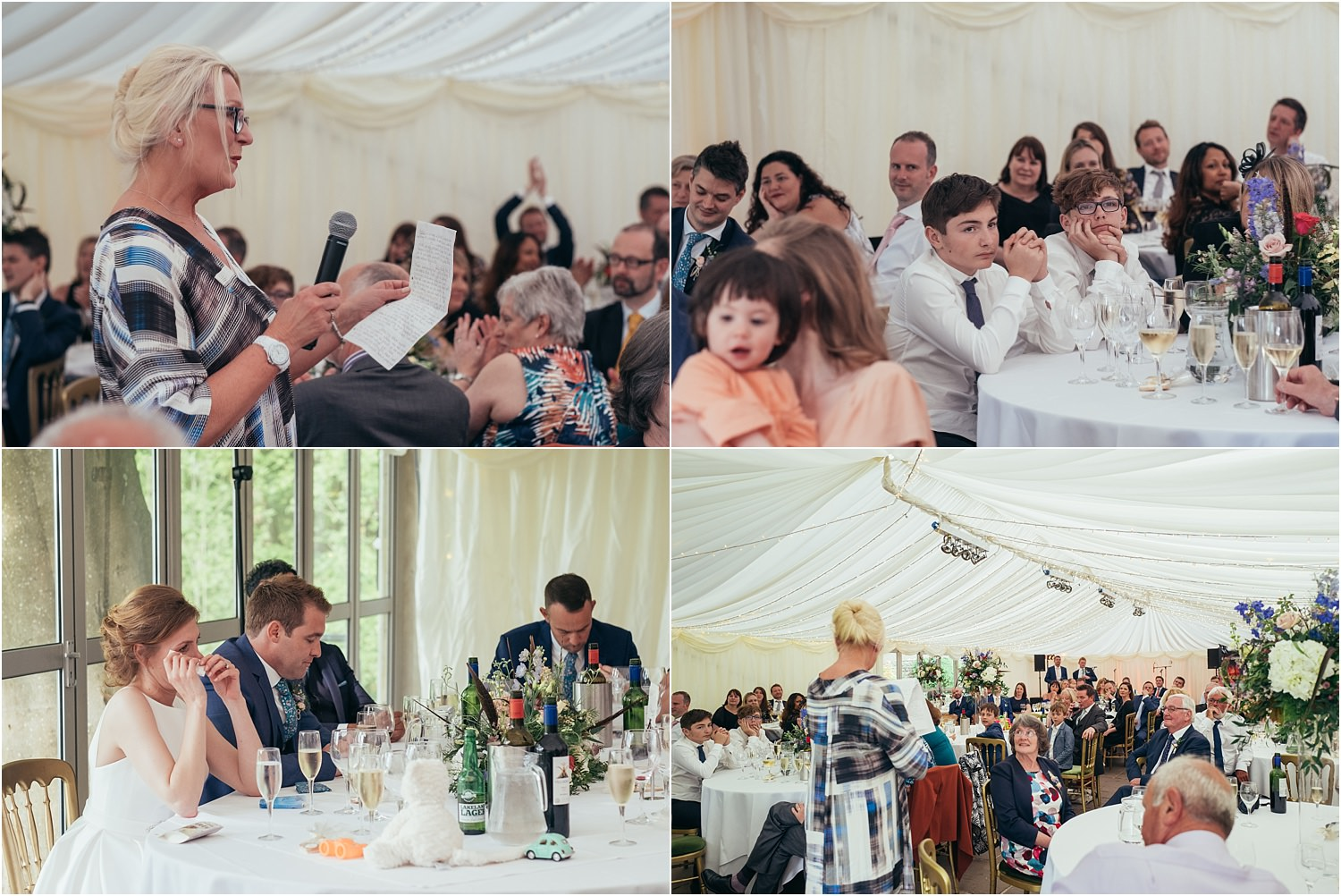 Mother of the bride's speech and guests reactions at Lancashire marquee wedding