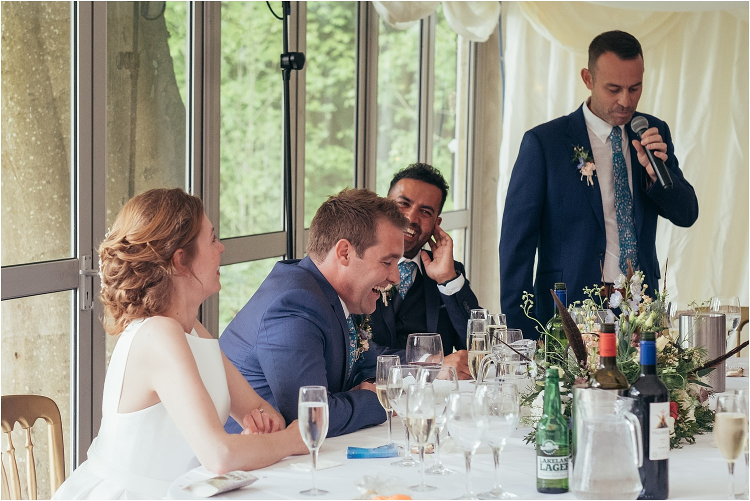 Bes man's speech at rural Lancashire wedding in the Trough of Bowland