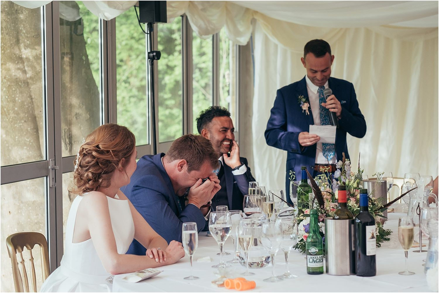 More reactions to best man's speech at Lancashire wedding reception