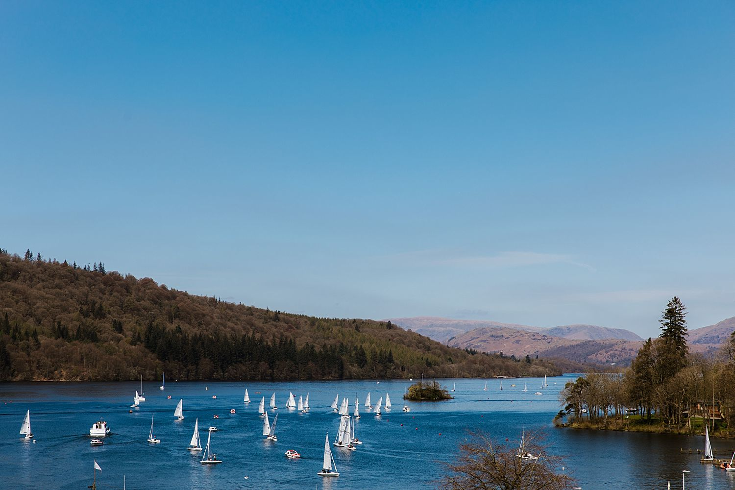 Panoramic view of Lake Windermere from the Laura Ashley Belsfield Hotel