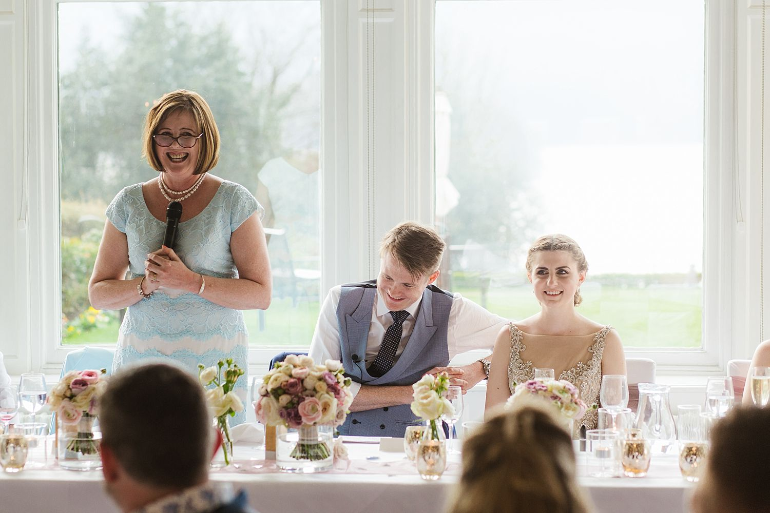 Lady makes speech at Laura Ashley, Belsfield Hotel wedding