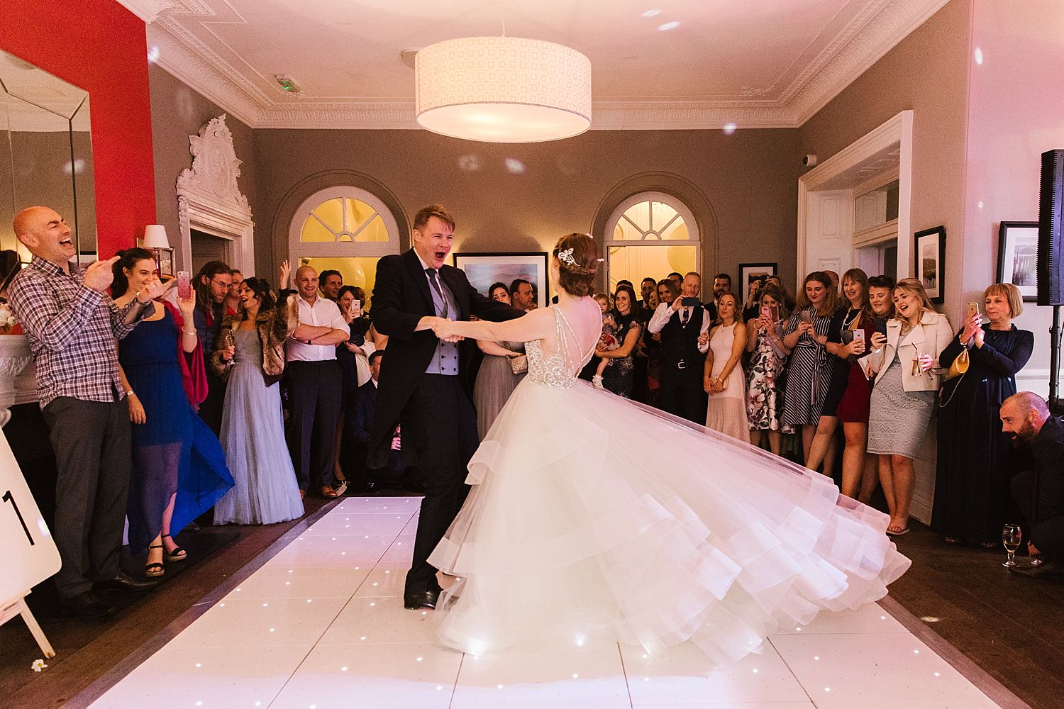 Bride and Groom dancing at the Laura Ashley Belsfield Hotel
