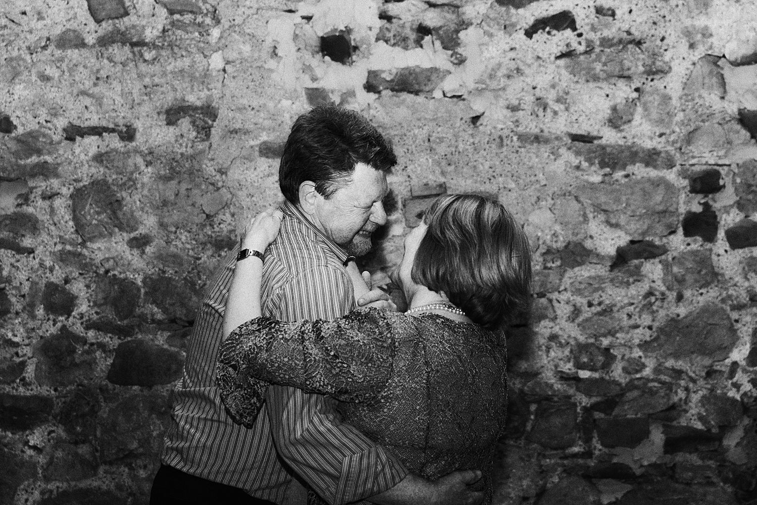 Couple dancing at Park House Barn wedding recetion in Heversham, Cumbria