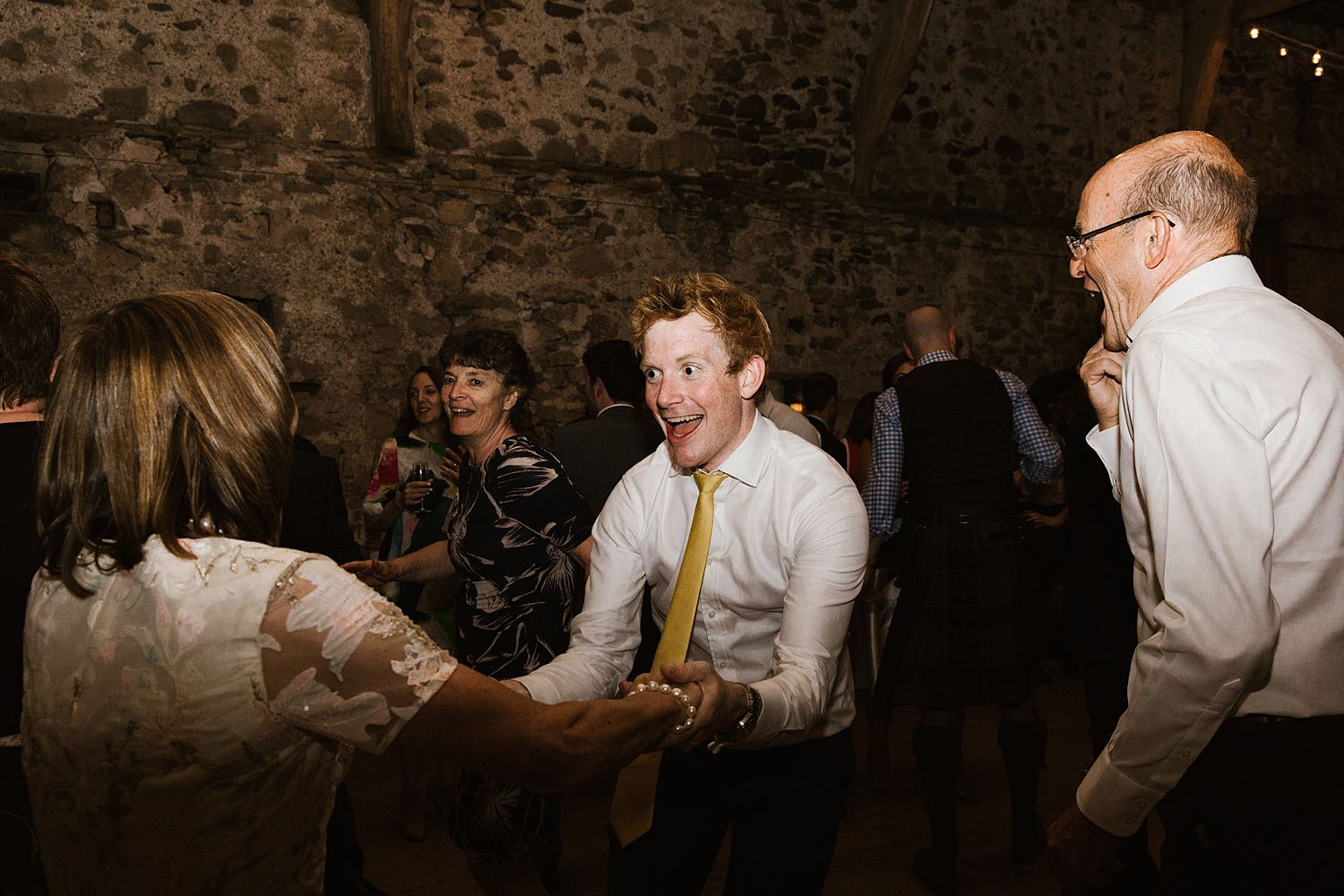 Dancing at eveneing reception, Park House Barn wedding