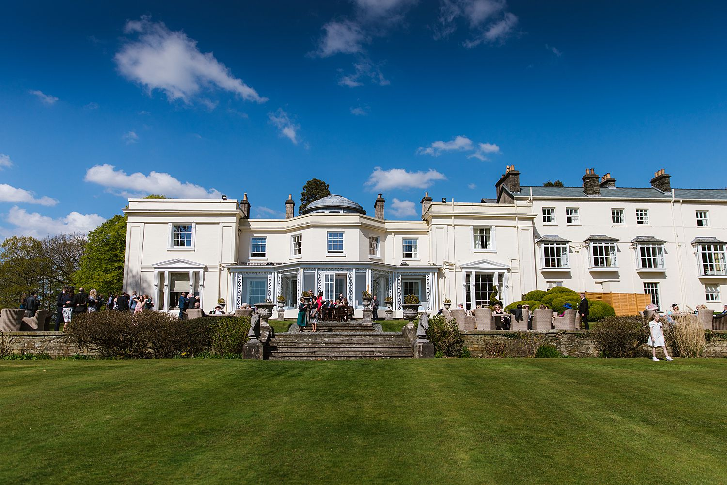 Storrs Hall Hotel from Lake Windermere, Lake District wedding venue