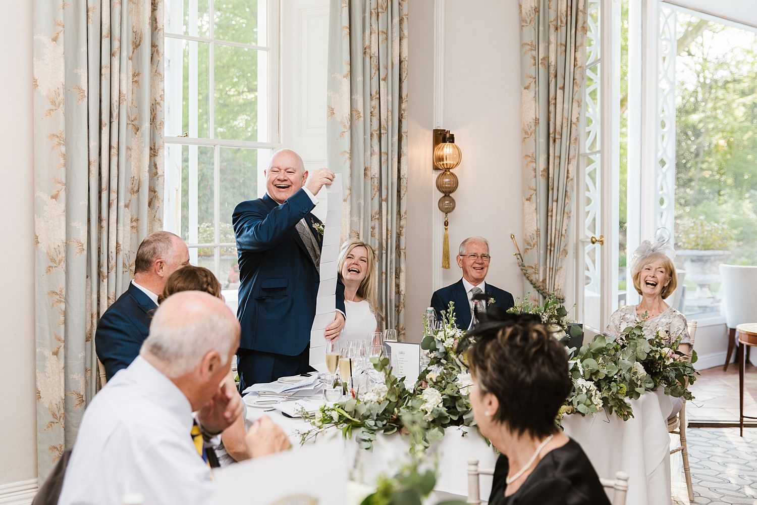 Groom's speech joke at Storrs Hall Hotel wedding reception