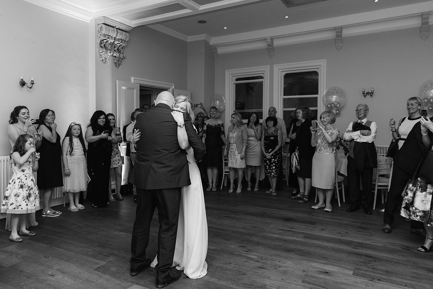First dance at Storrs Hall Wedding reception, Lake District