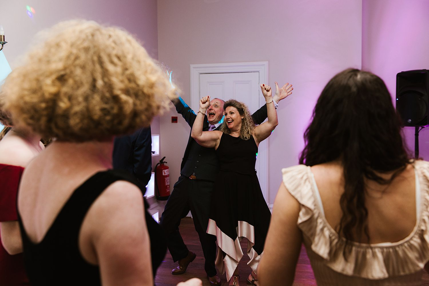 Dancing couple at Lake District wedding, Bowness on Windermere