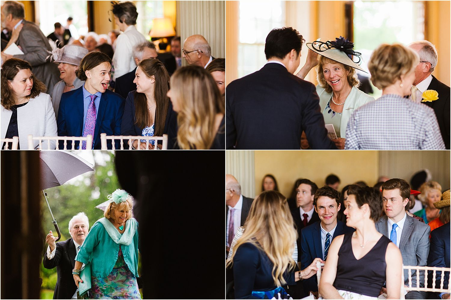 Guests arriving at Hampton Court House wedding, London