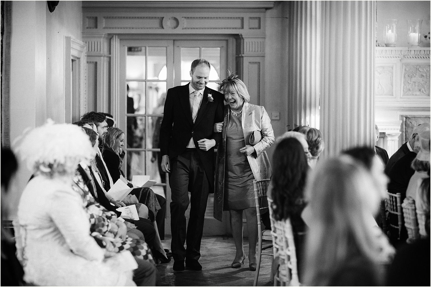 Bride's mother and best man at Hampton Court House wedding in Surrey