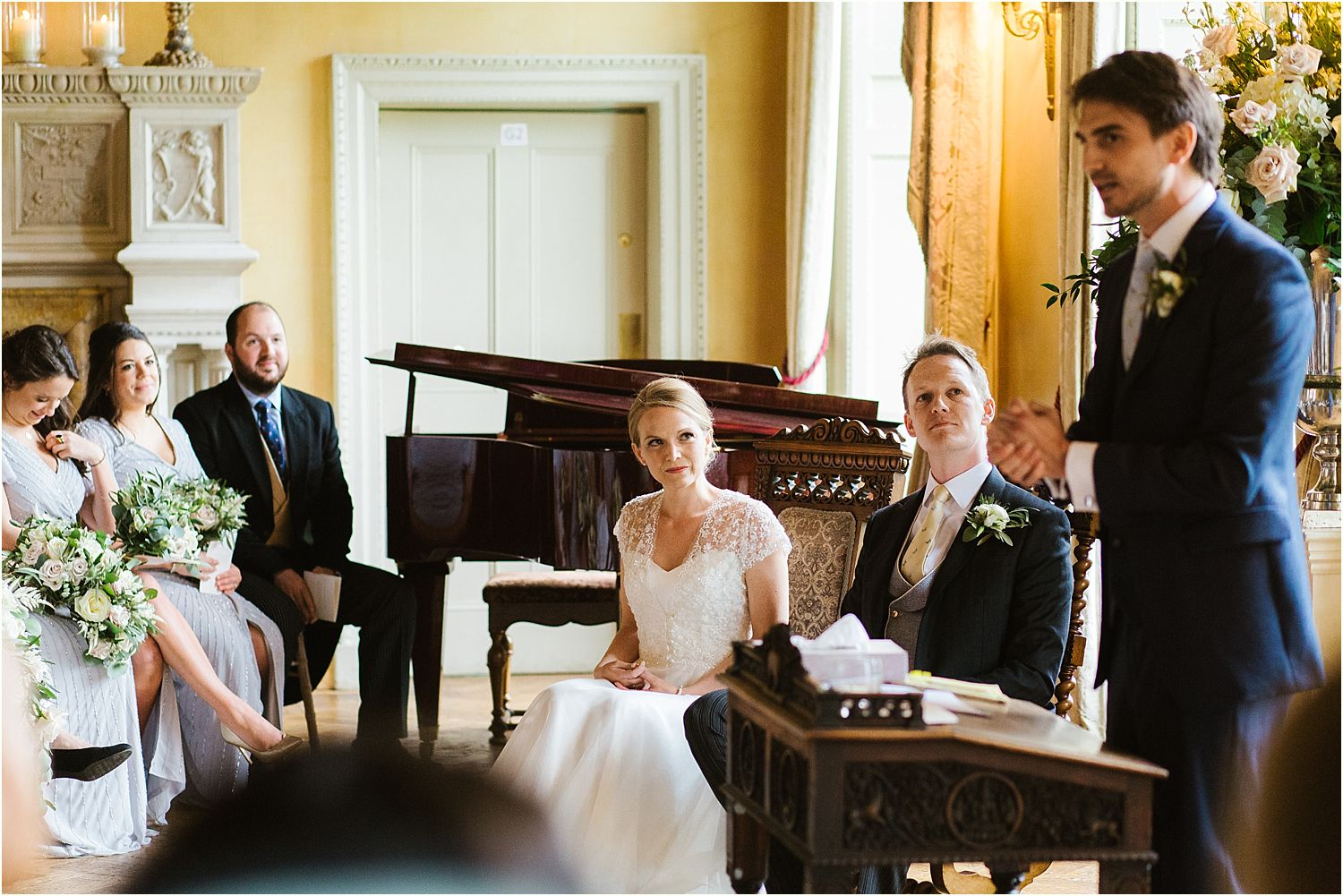 Best man delivers a reading at Hampton Court House wedding