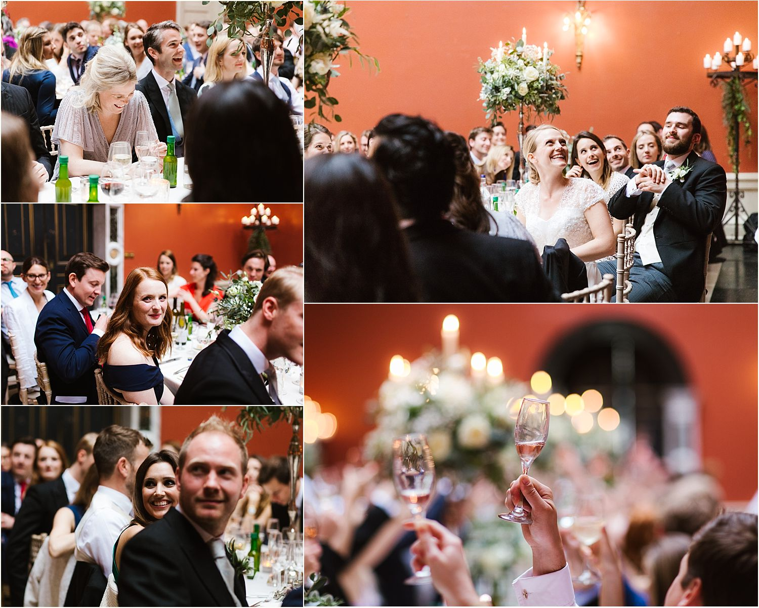 Reception guests at Hampton Court House wedding in Surrey