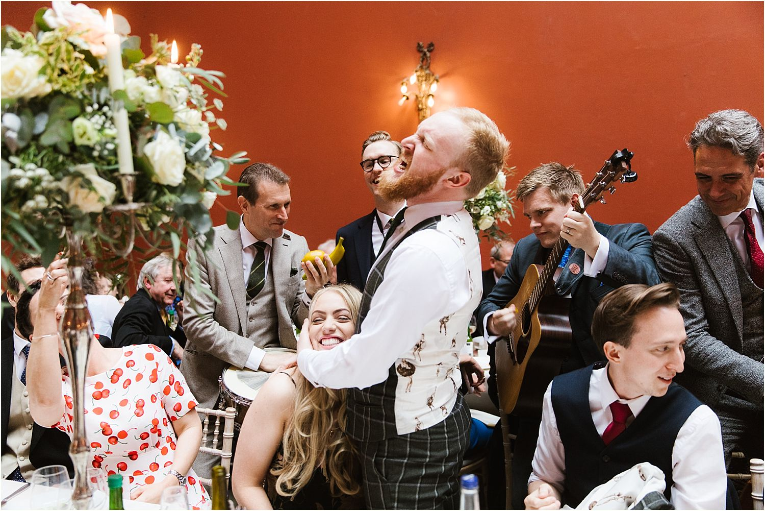 Entertainment and singing by London Essentials at Hampton Court House wedding