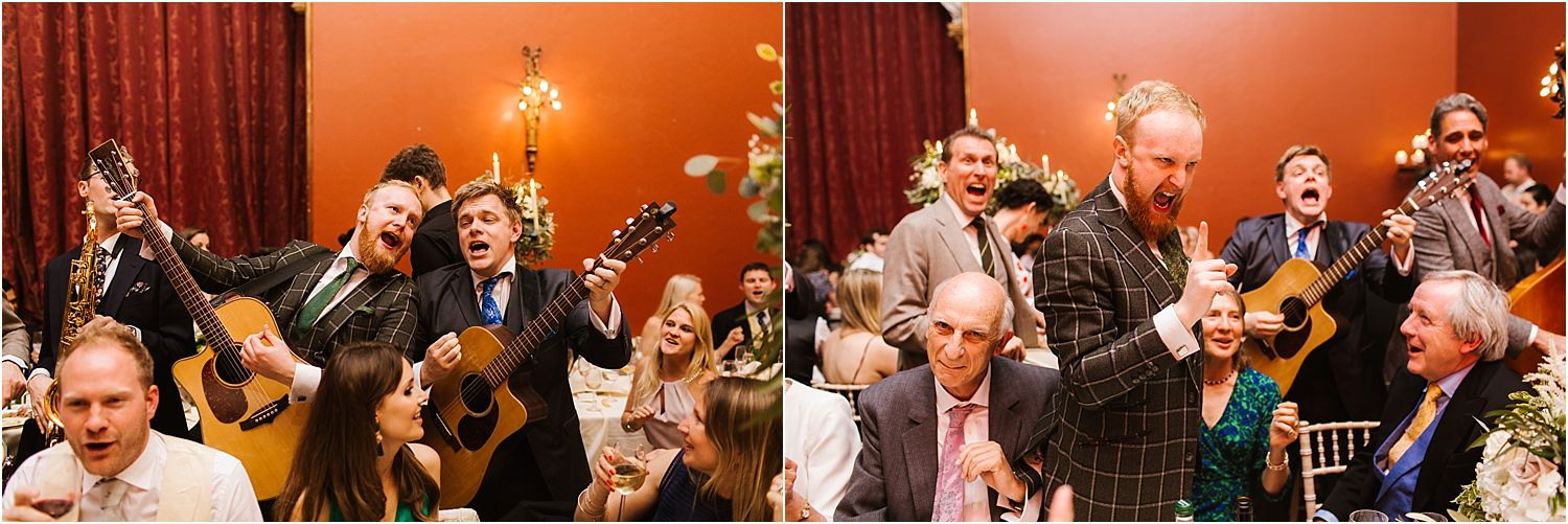 Entertainment band, London Essentials entertaining guests at Hampton Court Palace wedding