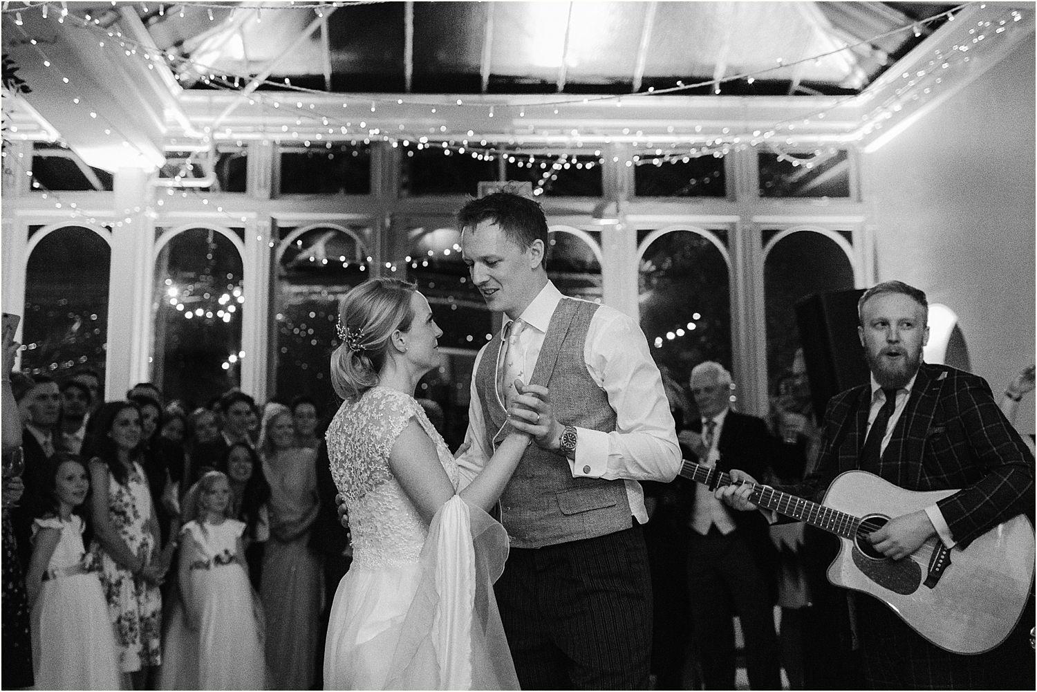 First dance to London Esentials band at Surrey wedding venue, Hamton Court House