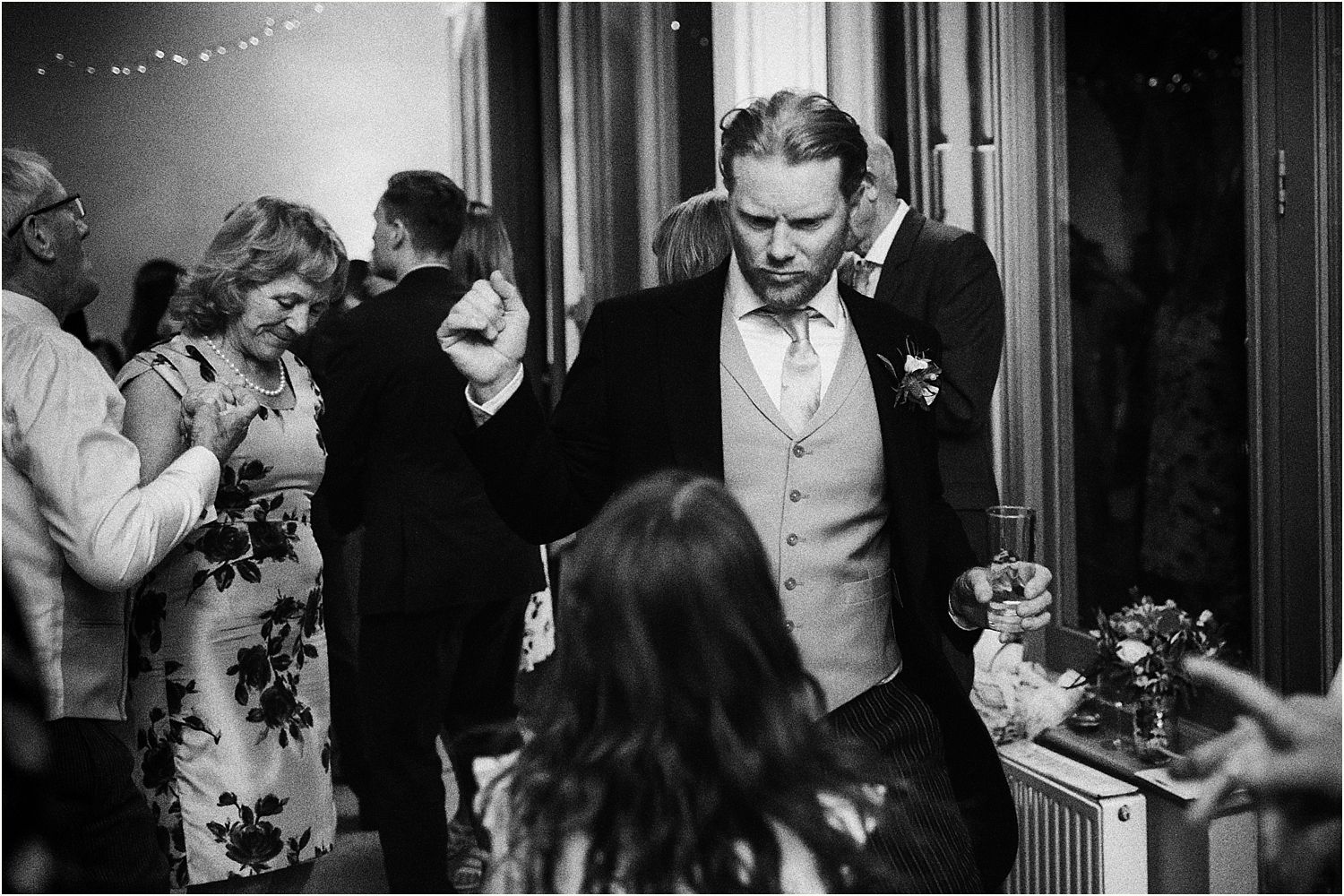 Wedding guests dancing the night away at Hampton Court wedding
