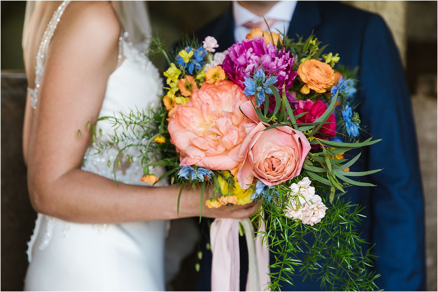 Beautiful hand tied bridal bouquet by Felicity Farm Flowers