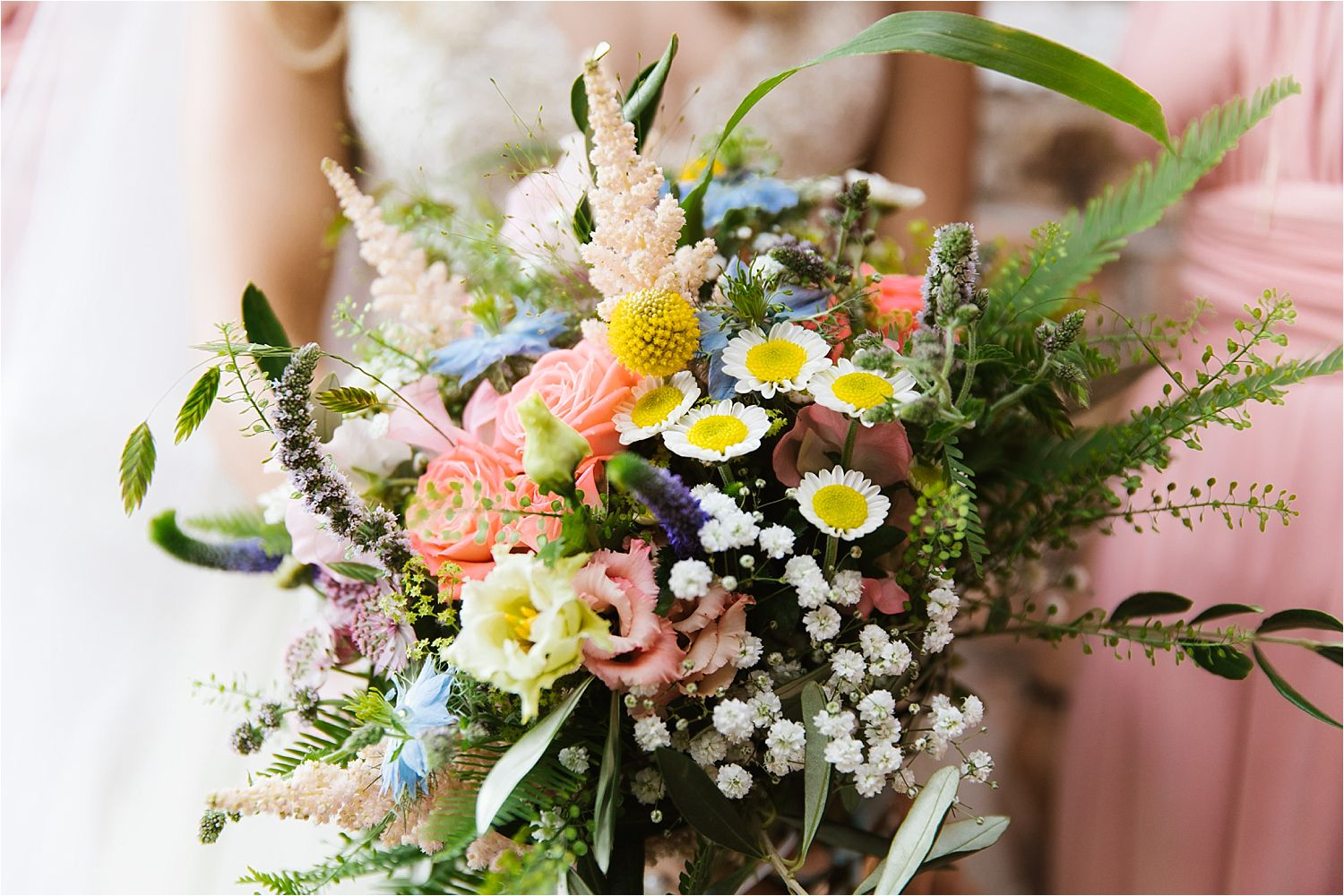 Beautiful natural bridal bouquet by Green Earth Flowers in Poynton Cheshire