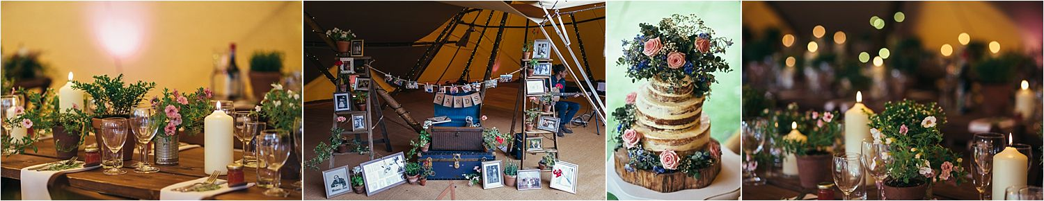 Styling details fo Bedfordshire tipi wedding. Styling by White Button Weddings, Tipi by Country Tipis
