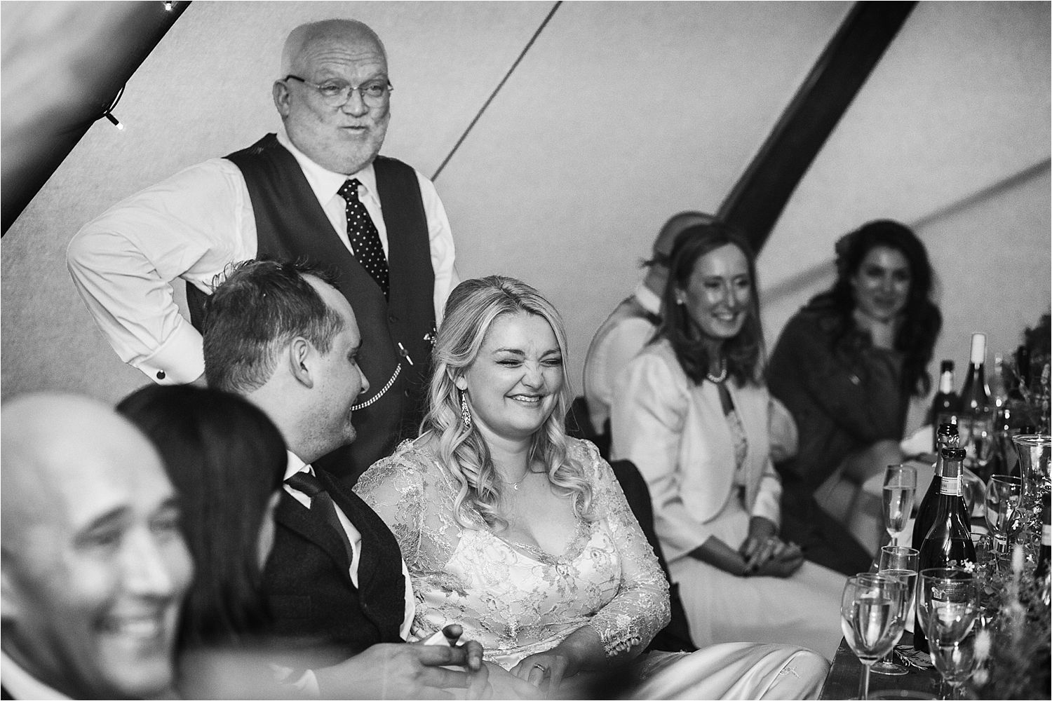Father of the bride's speech at tippi wedding in Bedfordshire