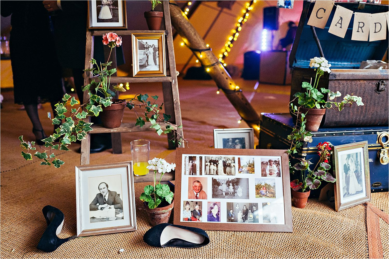 Styling details for Bedfordshire tipi wedding, styling by White Button Weddings, tipi by Country Tipis