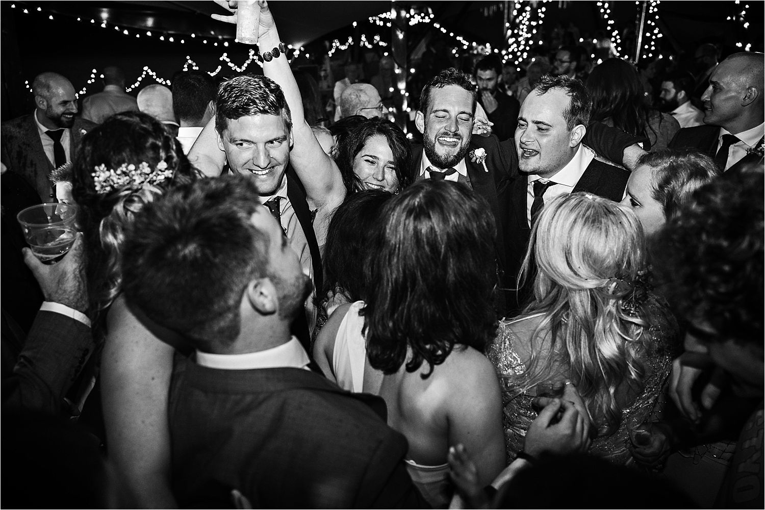 Dancing the night away at Bedforshire tipi wedding Tipi by Country Tipis