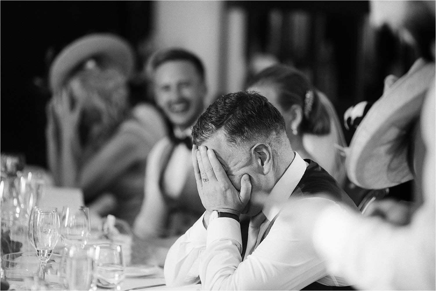 Bride's father's reaction to speeches at Low Wood Bay wedding