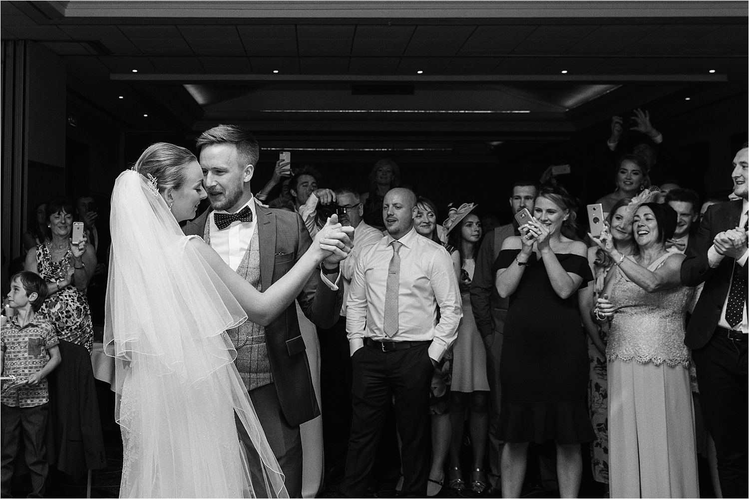 First dance for bride and groom at their Lake District wedding