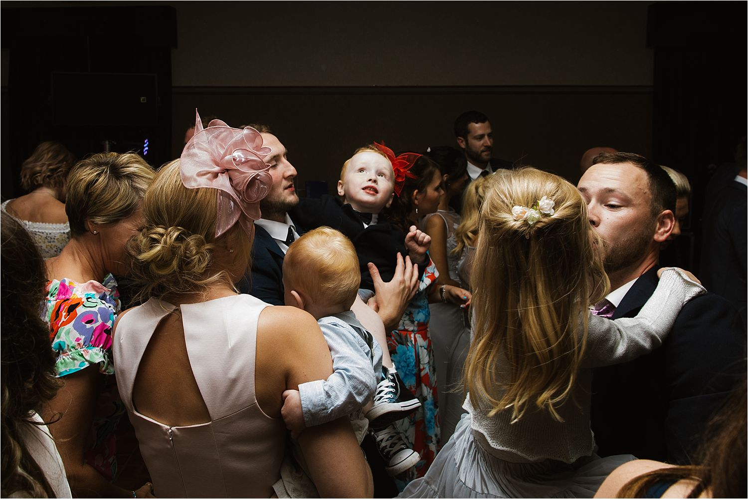 Evening party fun at Low Wood Bay wedding reception