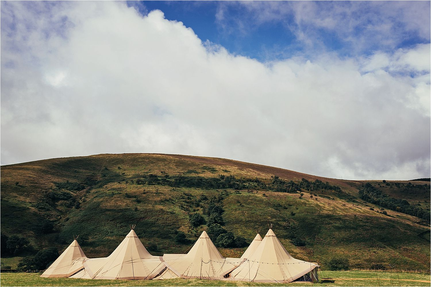 A Tipi Wedding set up, Tipis by Big Cheif Tipis of Manchester