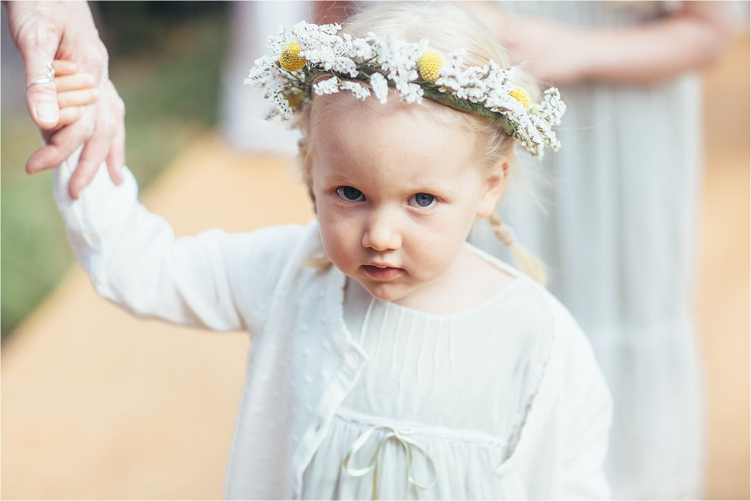 Little bridesmaid at North West tipi wedding