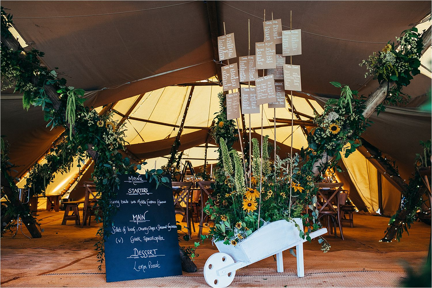 Interior of Big Chief Tipi, Together wedding and event planning