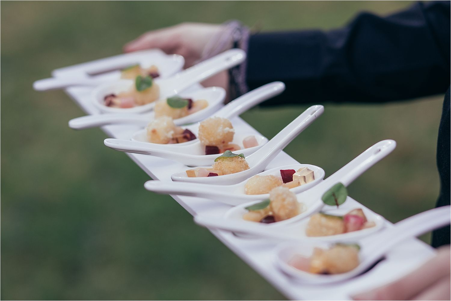 Wedding canapes by North West caterers, With a Twist.