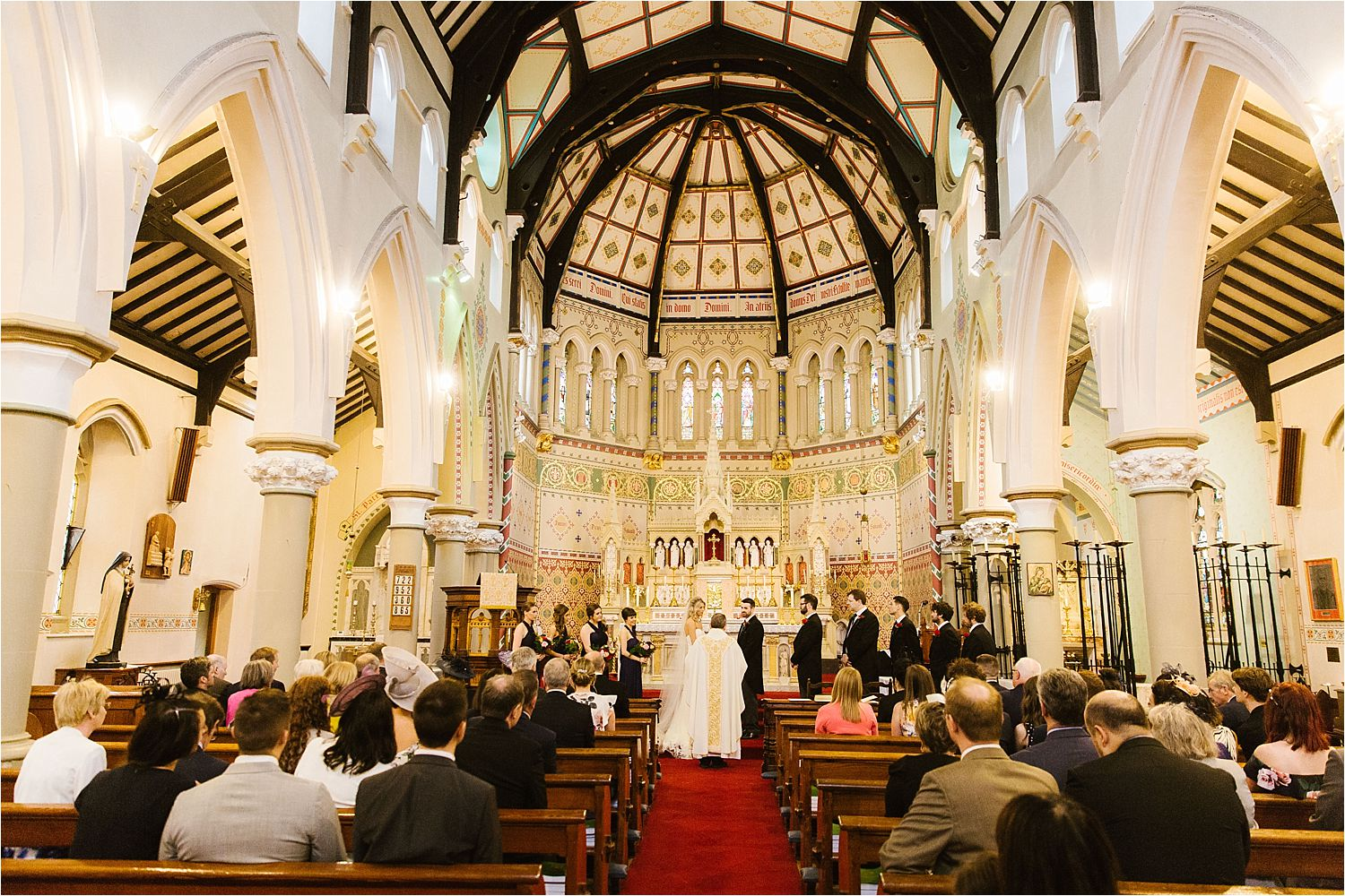 Wedding ceremony underway in beautiful North West church