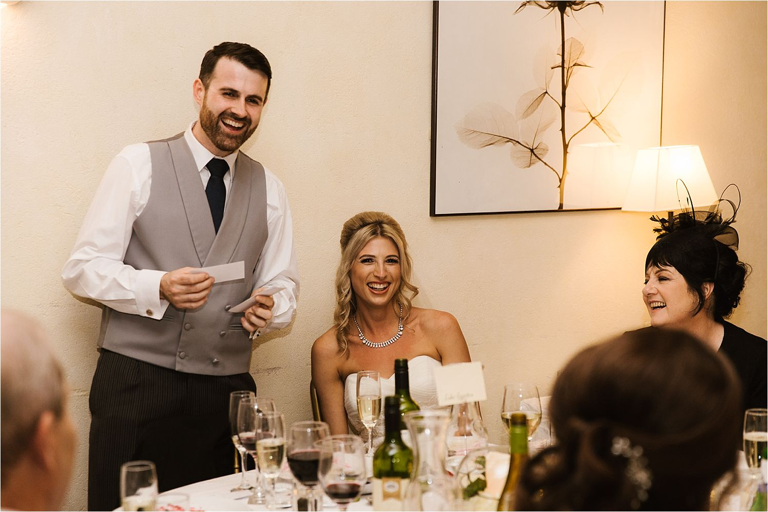 Groom's speech at Lake District wedding reception